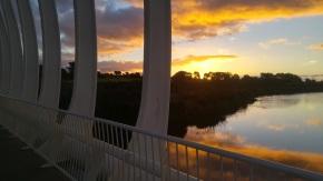Abend an der Te Rewa Rewa Bridge